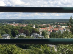 Alingsås through the railing