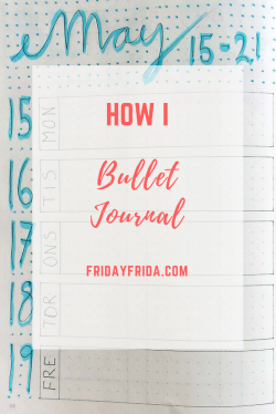how I Bullet Journal